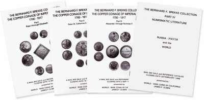 Лот №833, James F. Elmen 2003 года. The Bernhard F. Brekke Collection. The Copper Coinage of Imperial Russia 1700-1917 (Part I, II, III) and Numismatic Literature (Part IV)..